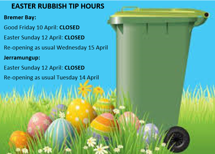 Easter rubbish tip trading hours